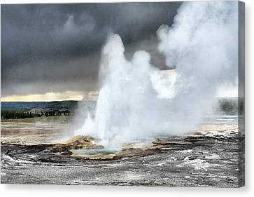 Clepsydra Geyser West Yellowstone National Park Usa Wy Canvas Print by Christine Till