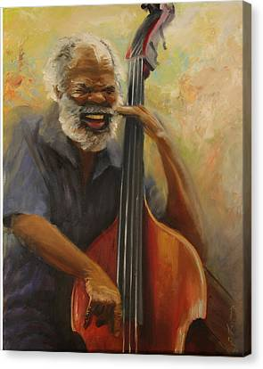 Cleve Playing The Jazz Canvas Print by Jill Holt