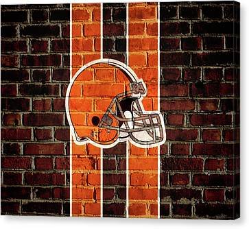 Cleveland Browns Brick Wall Canvas Print