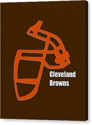Cleveland Browns Retro Canvas Print by Joe Hamilton