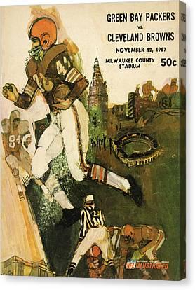 Cleveland Browns Vintage Program 2 Canvas Print by Joe Hamilton