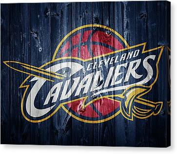 Cleveland Cavaliers Barn Door Canvas Print by Dan Sproul