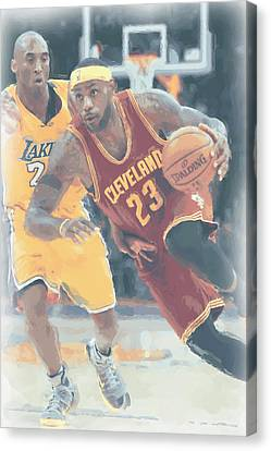Cleveland Cavaliers Lebron James 3 Canvas Print by Joe Hamilton