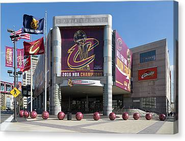 Cleveland Cavaliers The Q Canvas Print