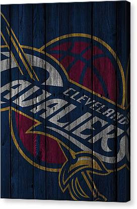 Benches Canvas Print - Cleveland Cavaliers Wood Fence by Joe Hamilton