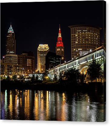 Cleveland Celebrates The Wine And Gold Canvas Print