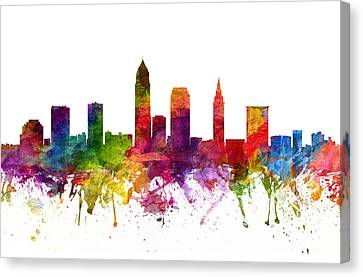 Cleveland Cityscape 06 Canvas Print by Aged Pixel