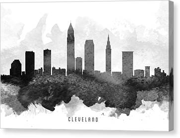 Cleveland Cityscape 11 Canvas Print by Aged Pixel