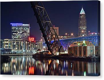 Cleveland Flats East Bank Canvas Print by Frozen in Time Fine Art Photography