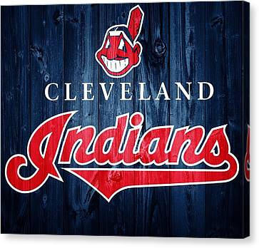 Cleveland Indians Barn Door Canvas Print by Dan Sproul