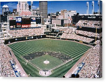 Cleveland: Jacobs Field Canvas Print by Granger
