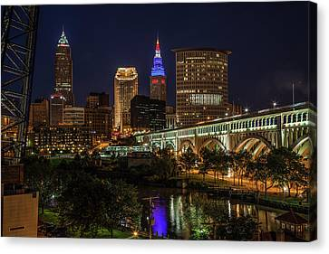 Cleveland Nightscape Canvas Print