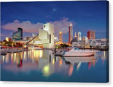 Canvas Print featuring the photograph Cleveland Ohio 2  by Emmanuel Panagiotakis