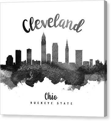 Cleveland Ohio Skyline 18 Canvas Print by Aged Pixel