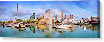 Canvas Print featuring the photograph Cleveland  Pano 1  by Emmanuel Panagiotakis