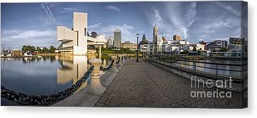 Cleveland Panorama Canvas Print by James Dean