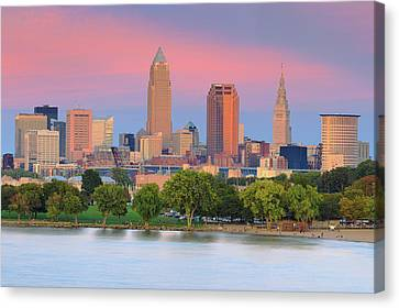 Canvas Print featuring the photograph Cleveland Skyline 6 by Emmanuel Panagiotakis