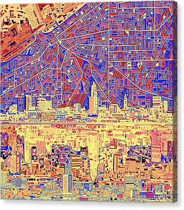 Cleveland Skyline Abstract 11 Canvas Print