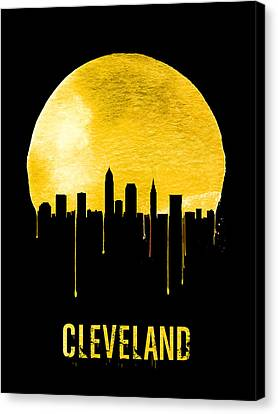 Cleveland Skyline Yellow Canvas Print