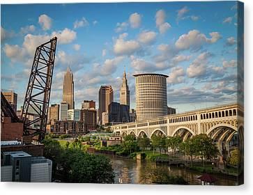 Cleveland Summer Skyline  Canvas Print