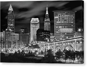 Charcoal Night  Canvas Print by Frozen in Time Fine Art Photography