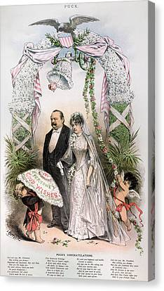Clevelands Wedding, 1886 Canvas Print by Granger