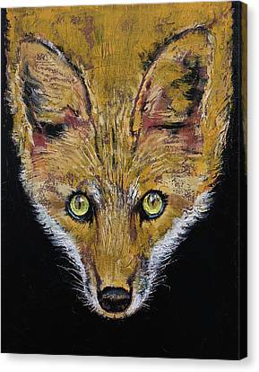 Clever Fox Canvas Print by Michael Creese