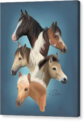 Pony Canvas Print - Clg Buyback Herd by Rachael Ellis