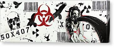 Cliche Parables Camouflage Habitual Consumerism Canvas Print by Tai Taeoalii