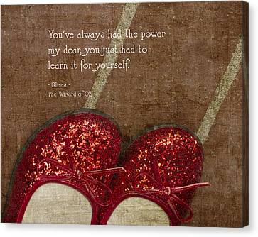 Click Your Heels Canvas Print by Rebecca Cozart