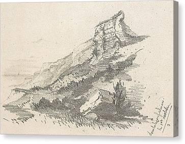 Cliff At Sainte Adresse Canvas Print