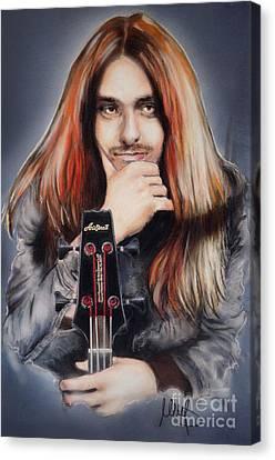 Cliff Burton Canvas Print by Melanie D