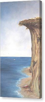 Canvas Print featuring the painting Cliff by Diane Daigle