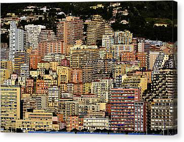 Cliff Dwellers Of Monte Carlo Canvas Print