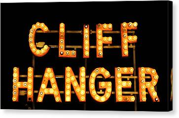 Cliff Hanger Canvas Print by Dana  Oliver