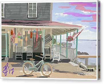 Cliff Island Store 2017 Canvas Print