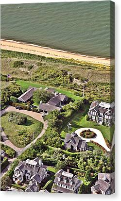 Cliff Road Houses Nantucket Island 5 Canvas Print by Duncan Pearson