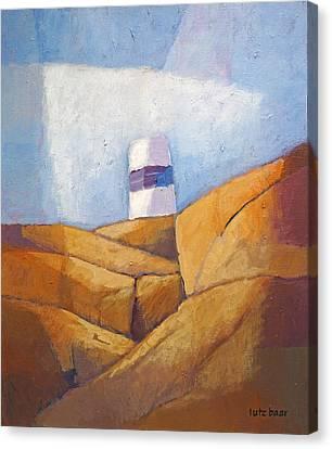 Cliffs And Beacon Canvas Print