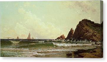 Cliffs At Cape Elizabeth Canvas Print by Alfred Thompson Bricher