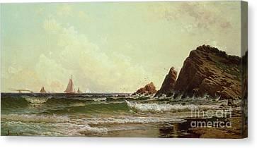 Cliffs At Cape Elizabeth Canvas Print by Alfred Thompson Bricher