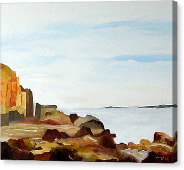 Cliffs By The Seaside Canvas Print by Carola Ann-Margret Forsberg