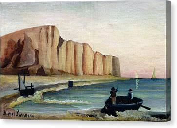 Cliffs Canvas Print by Henri Rousseau