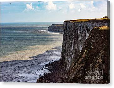 Canvas Print featuring the photograph Cliffs Of Bempton by Anthony Baatz