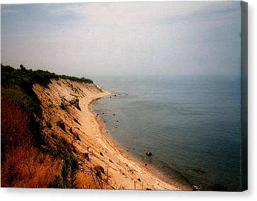 Cliffs Of Block Island Canvas Print