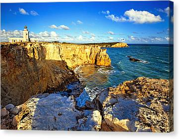Puerto Rico Canvas Print - Cliffs Of Cabo Rojo At Sunset by George Oze