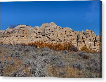 Canvas Print featuring the photograph Cliffs Of Hoodoos by Fran Riley