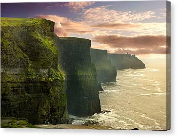 Clare Canvas Print - Cliffs Of Moher - 2 by Robert Lacy