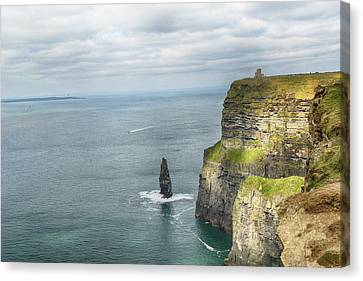 Canvas Print featuring the photograph Cliffs Of Moher 3 by Marie Leslie