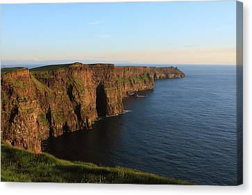 Cliffs Of Moher In County Clare At Sunset Canvas Print by Aidan Moran