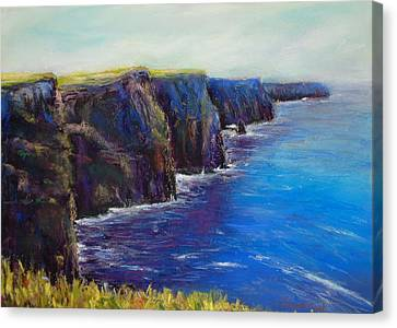 Cliffs Of Moher Canvas Print by Joyce A Guariglia